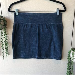 Forever 21 Blue Acid Wash Skirt, Medium
